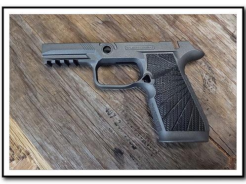 Wilson Combat P320 Grip Module MANUAL SAFETY - Tungsten Gray + Laser Texture