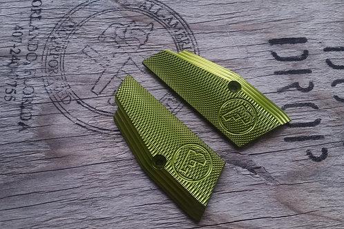 CZ 75 Aluminum Grips - SHORT- GREEN