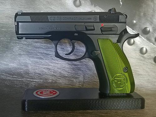 CZ 75 Aluminum Grips - COMPACT - GREEN