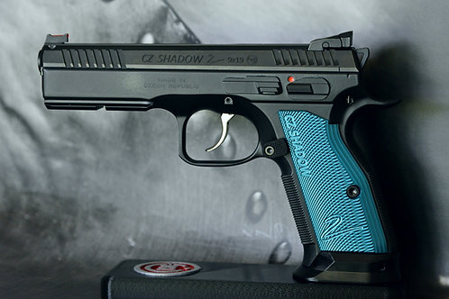 CZ 75 Aluminum Grips - Shadow 2 - SHORT - BLUE