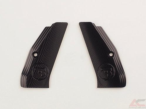 CZ 75 Aluminum Grips - LONG - BLACK