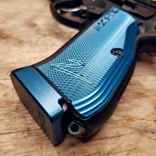 CZ 75 Base Pad - 'PLUS 1' - BLUE - NO MAGWELL