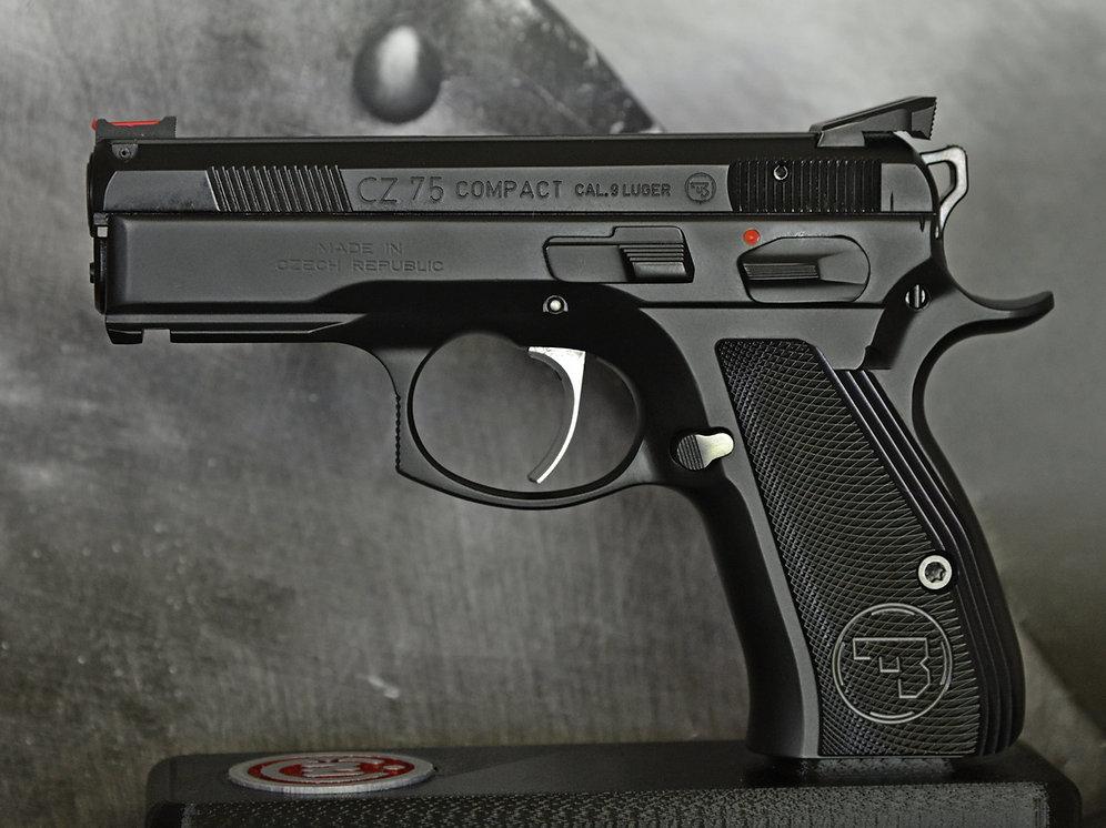 CZ 75 Aluminum Grips - COMPACT - BLACK | armorycraft