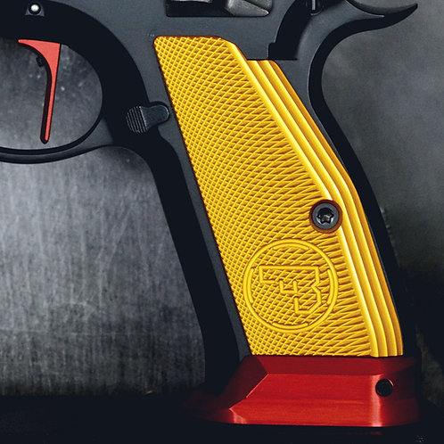 CZ 75 Aluminum Grips - SHORT- YELLOW