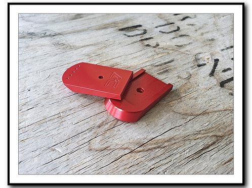 SIG P226 - Plus Zero - 15/17rd - Billet Aluminum SIG 226 Base Pad - RED