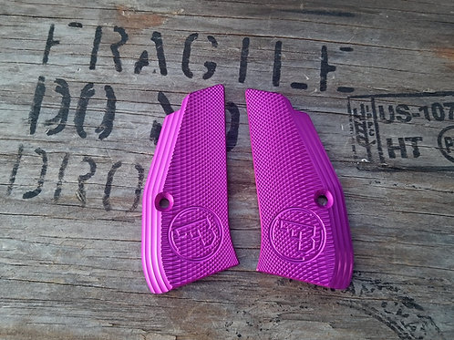 CZ 75 Aluminum Grips - SHORT - PURPLE color