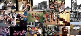 Photo collage from the case studies in the Macquarie University Online Human Research Ethics Training Program