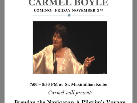 LIVE from St. Maximilian Kolbe Parish in Marmora, NJ - A Night With Carmel Boyle