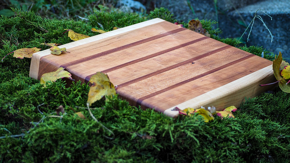 Cherry, Mahogany & Maple Cutting Board
