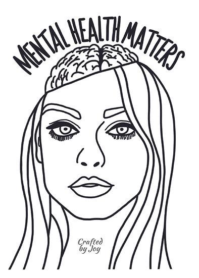 """""""Mental Health Matters"""" Print"""