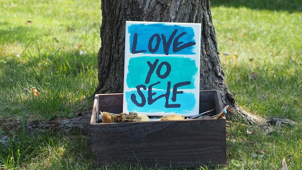 """Love Yo Self"" Canvas - Three Bars"