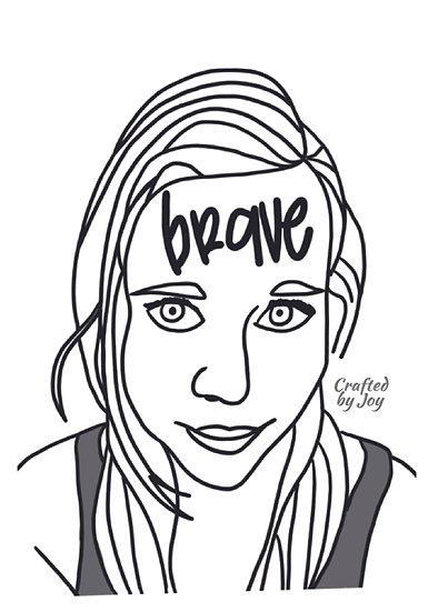 """Brave"" Print"