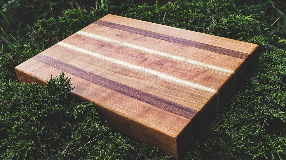 Cherry & African Mahogany Cutting Board