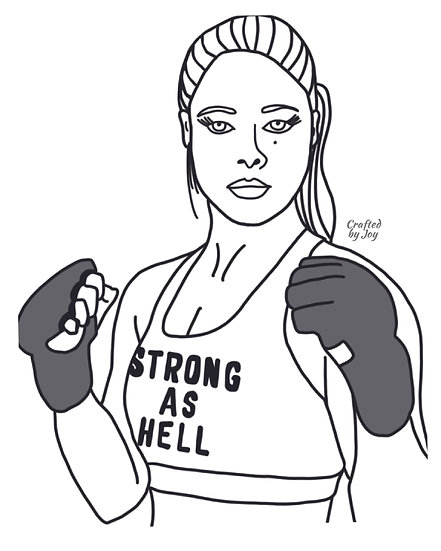 """""""Strong As Hell"""" Print"""