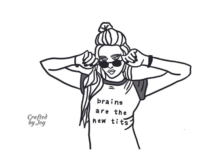 """""""Brains Are The New Tits"""" Print"""