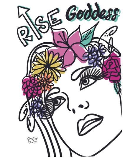 """Rise Goddess"" Print"