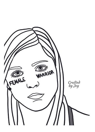 """""""Female Warrior"""" Print"""
