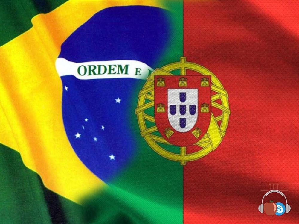 Aulas Particulares de Inglês Especiais para Alunos Portugueses com teachers Brasileiros e Estrangeiros via Skype bandeira brasil portugal