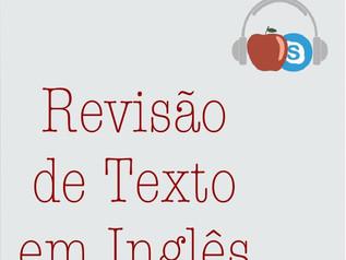 Revisão de Texto em Inglês