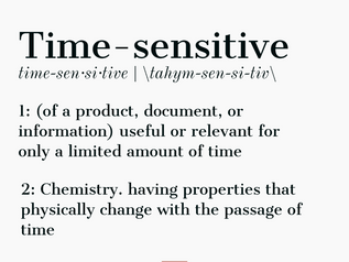 Word of the Day - Time-sensitive