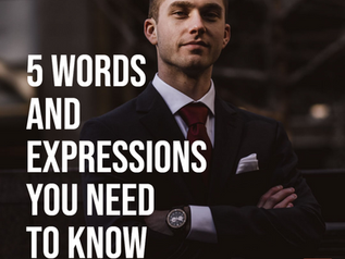 Business English Vocabulary Lesson -  5 Words and Expressions you Need to Know