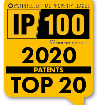 IP100 - 4th in Patents Category 2020