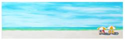 I due asciugamani, 2010, Acrylic on canvas, 48'' x 15''