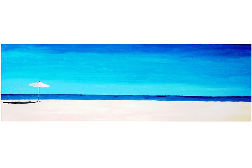 Umbrella of Cabo, 2009,  acrylic on canvas , 18'' x 56''