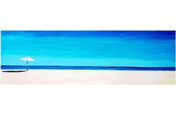 Umbrella of Cabo, 2009,  acrylic on canvas , 18'' x 56''