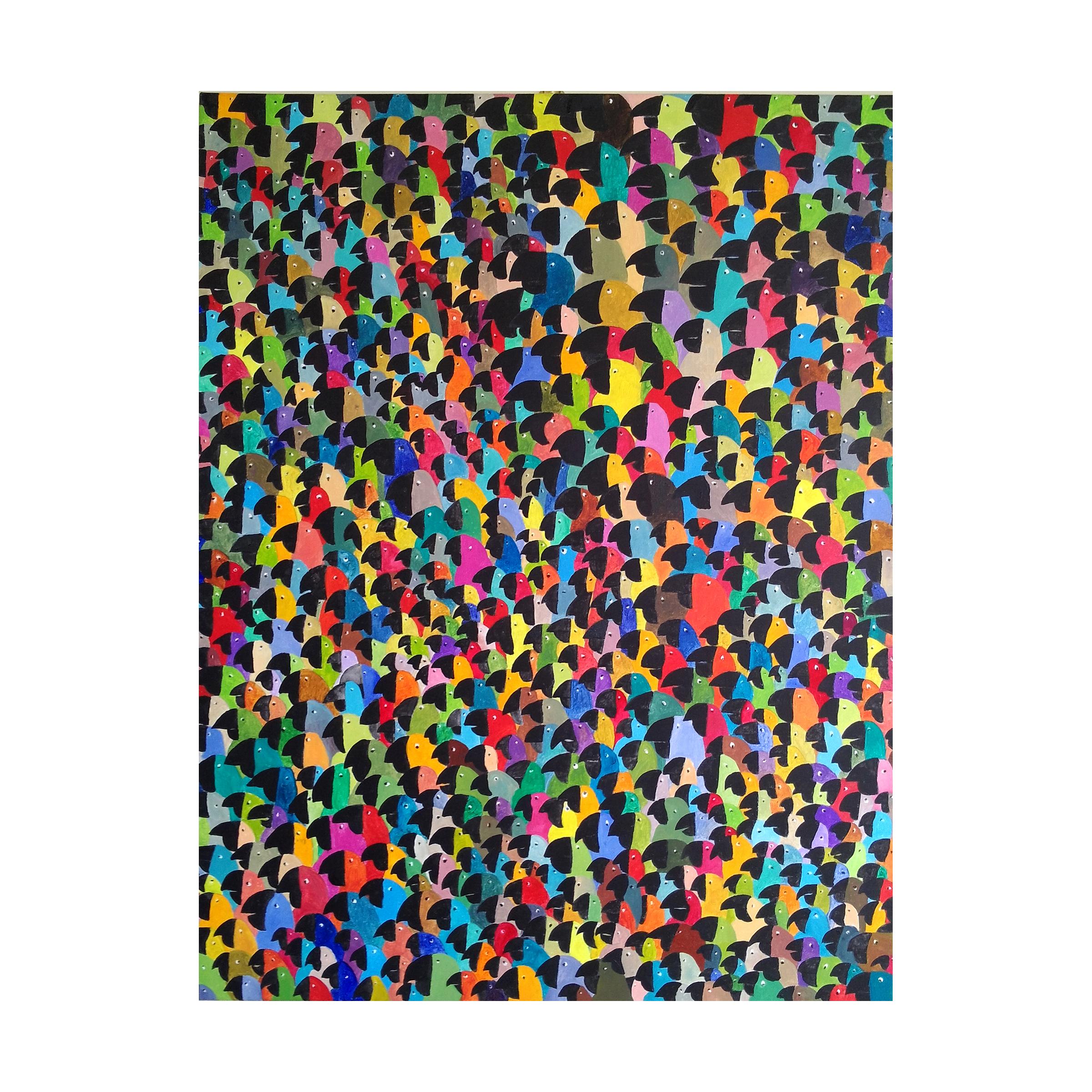 b 1 - Maracana', acrylic on canvas, 48'' x 36'' (135 x 90 cm)