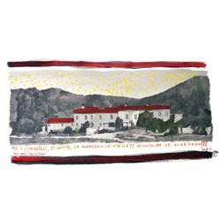 b51 Ma i cinghiali,2016, watercolor, pencil, lacquer and mix media, on Magnani paper, 20 x 50 cm, 8'