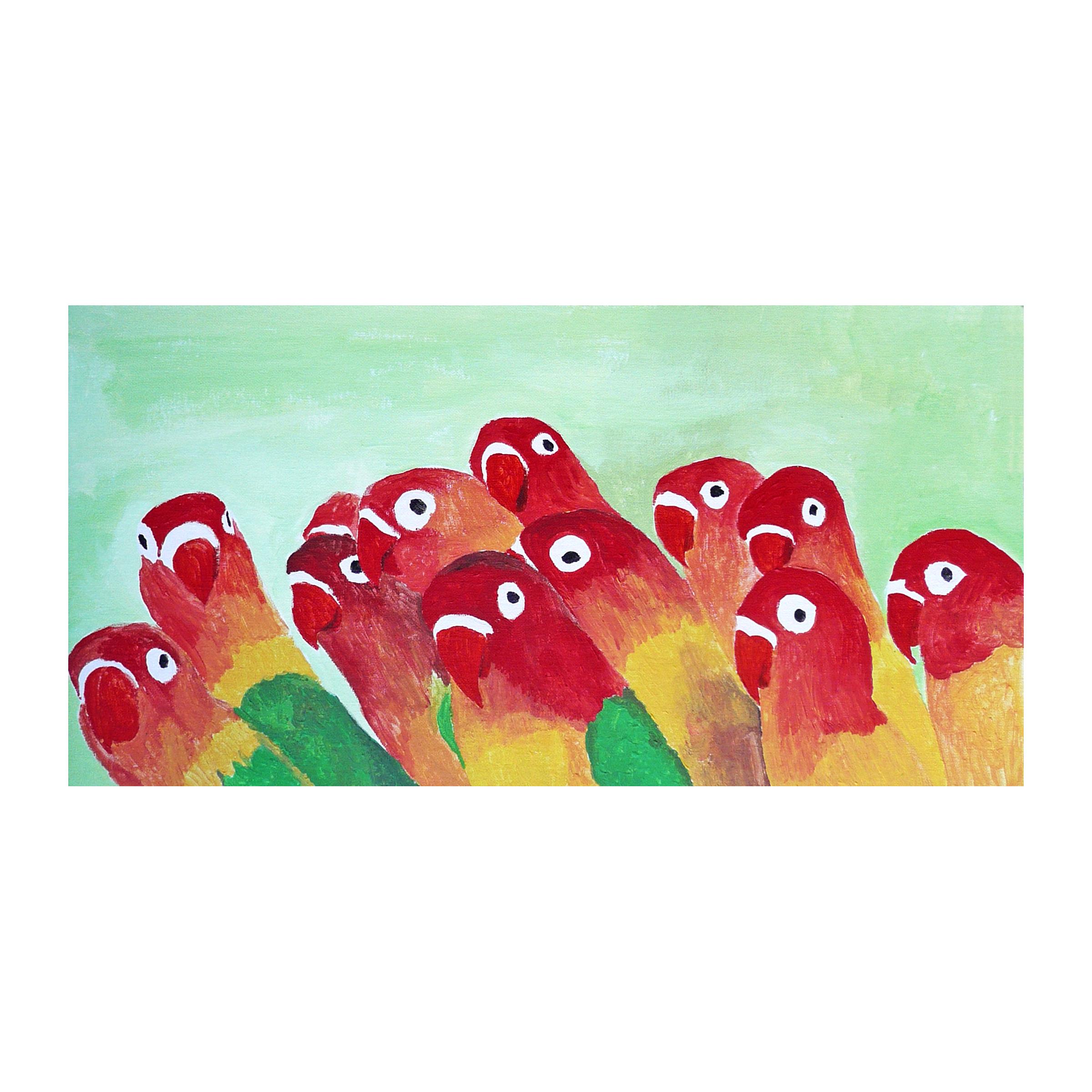 a 18 curious parrots