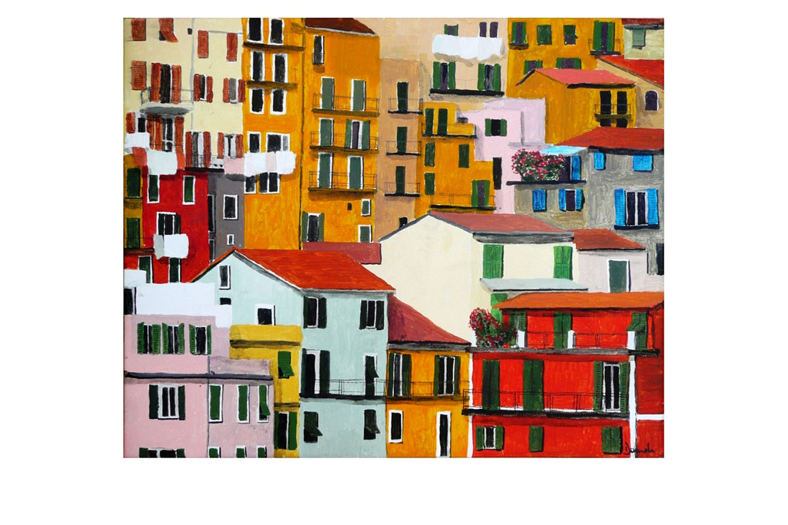 Liguria, 2010, Acrylic on canvas, 20'' x 16''