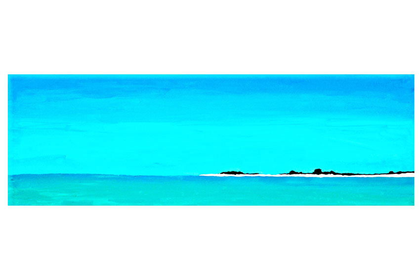 Los Roques Key, 2009, Acrylic on canvas, 36'' x 12''