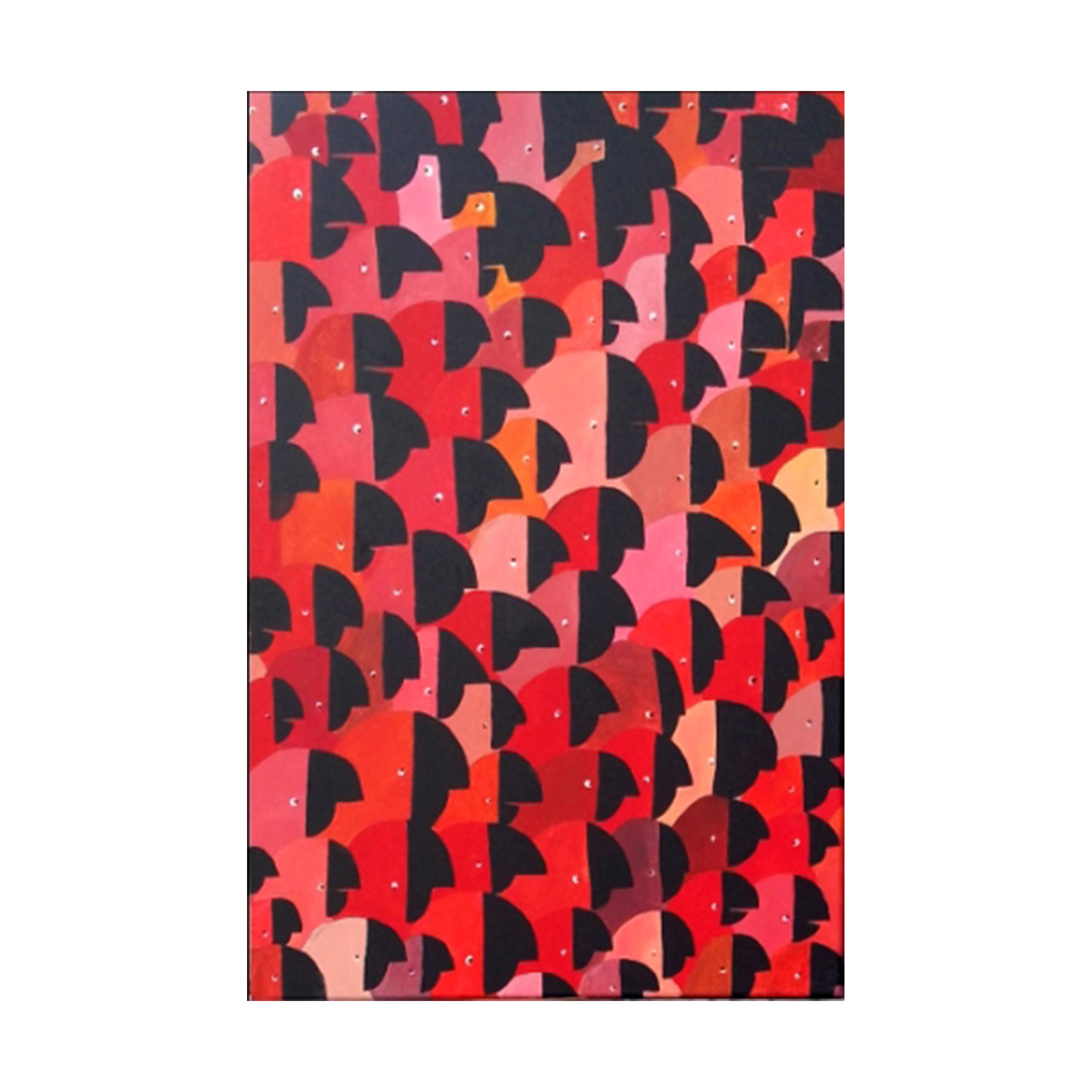 b 2 - los amigos de Teodoro, acrylic on canvas, 24''x 36'', $ 500 + shipping