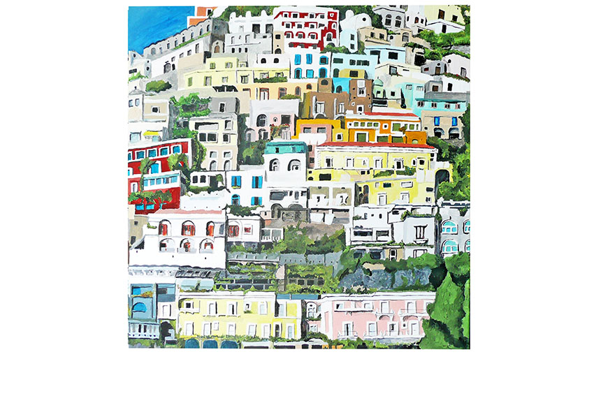 positano, 2010, acrylic on canvas. 30'' x 30''