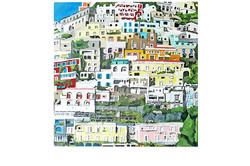positano, 2010, acrylic on canvas. 30'' x 30''