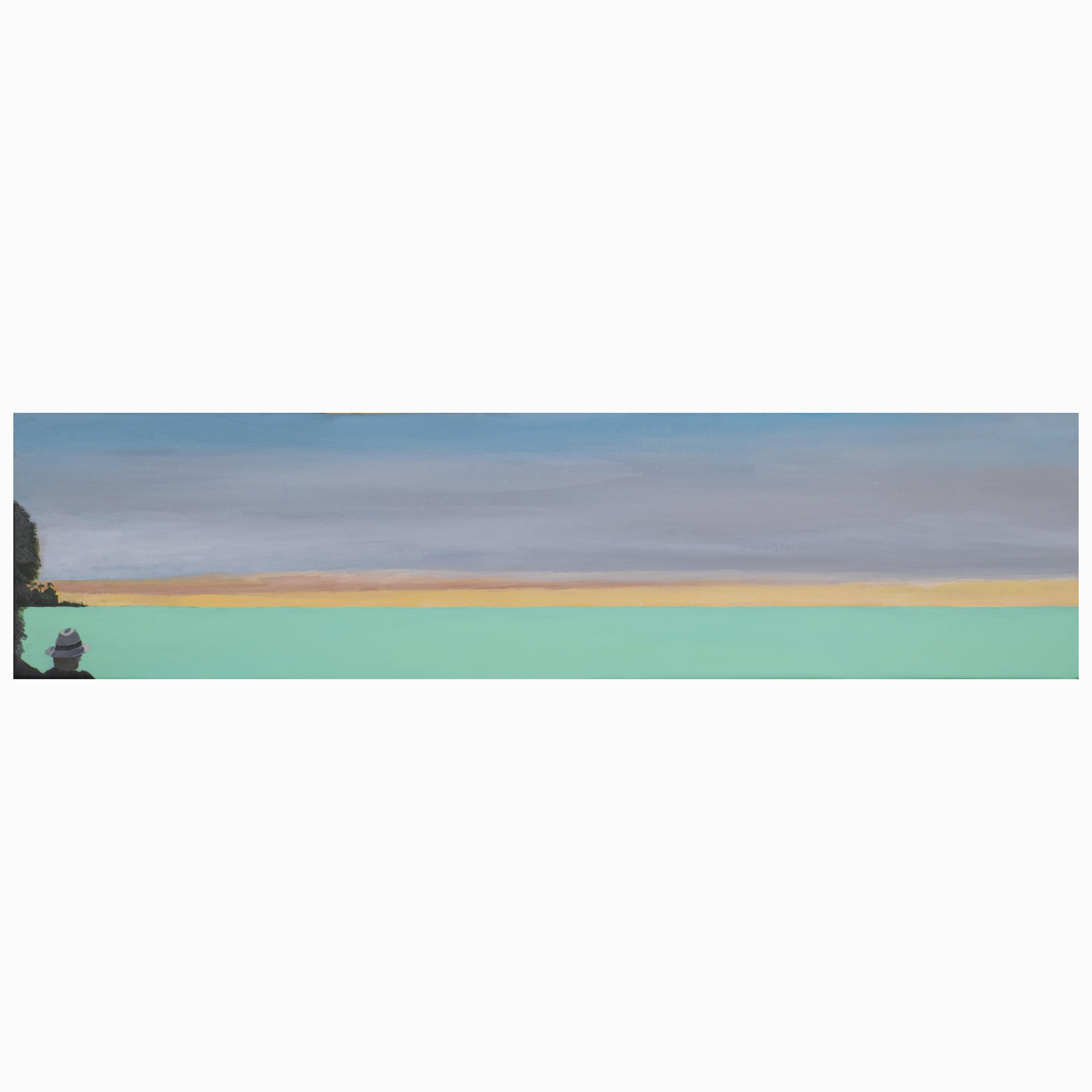 Sunset , 2019, acrylics on canvas,