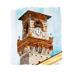 Pescia torre dell'orologio,