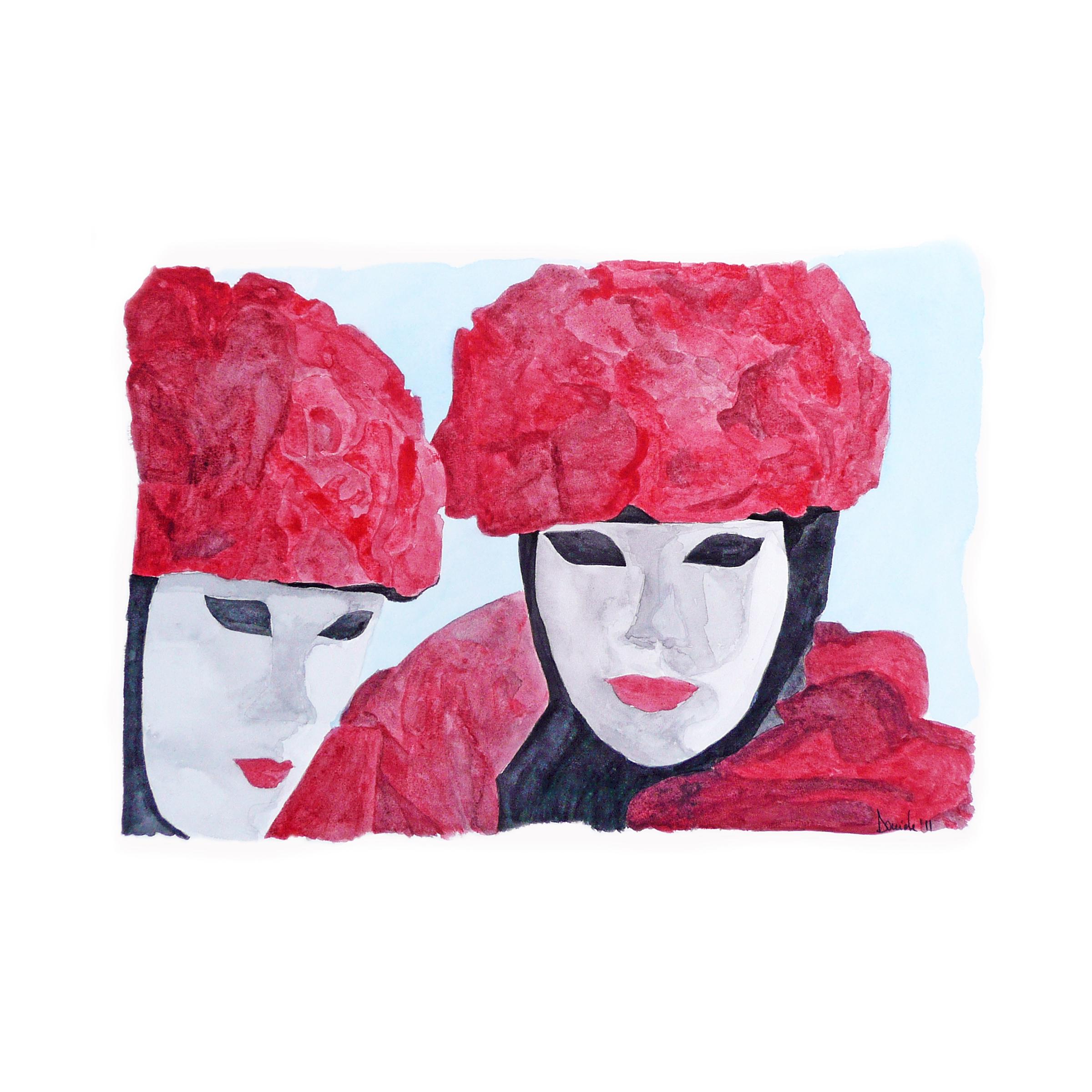 Carnevale di Venezia, 2011, watercolor on paper.