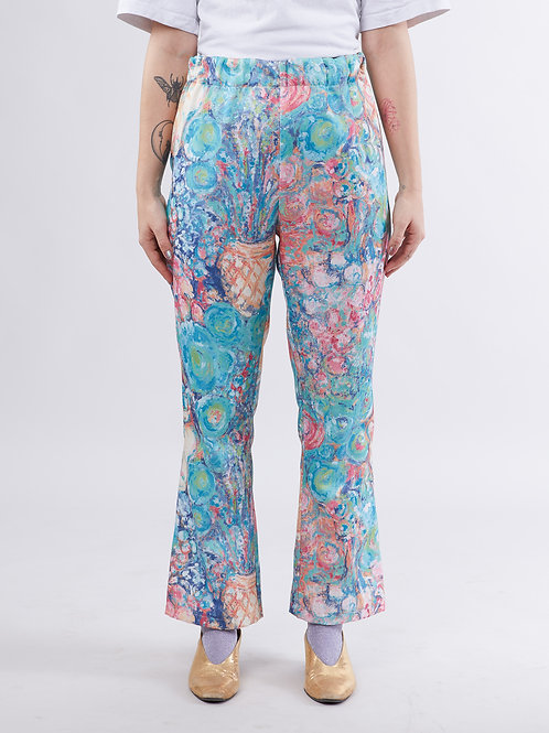 Tulip light flare pant - Water color dream