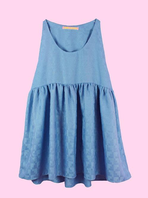 Shiny blue - POP ON PINAFORE DRESS - 02
