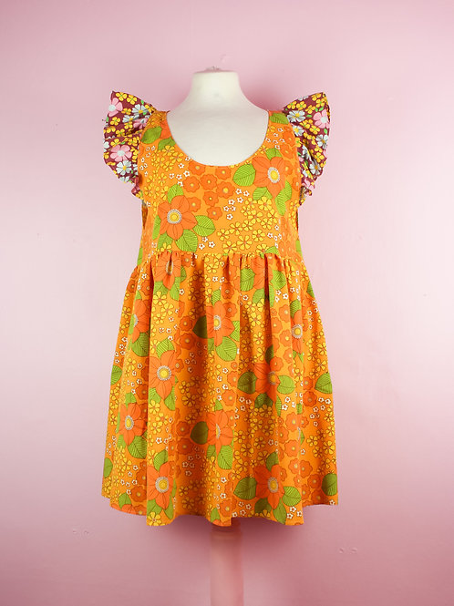 Flower Child - Frilly POP ON Pinafore dress S/M