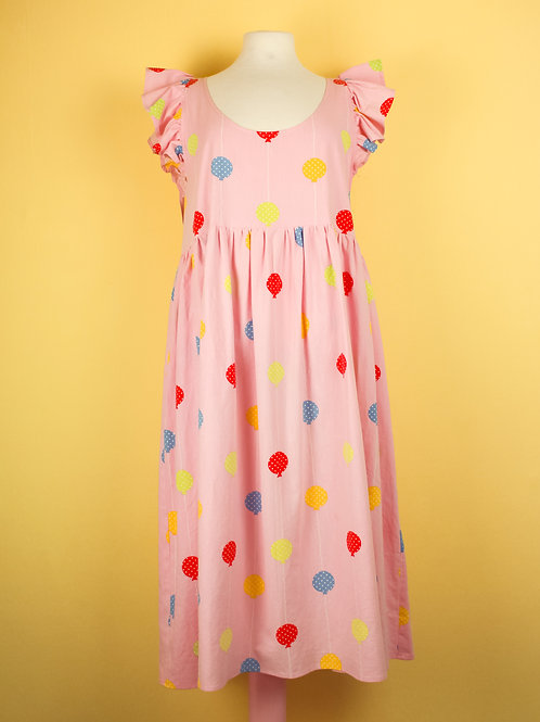 Frilly Balloons - POP ON PINAFORE xtra length S/M