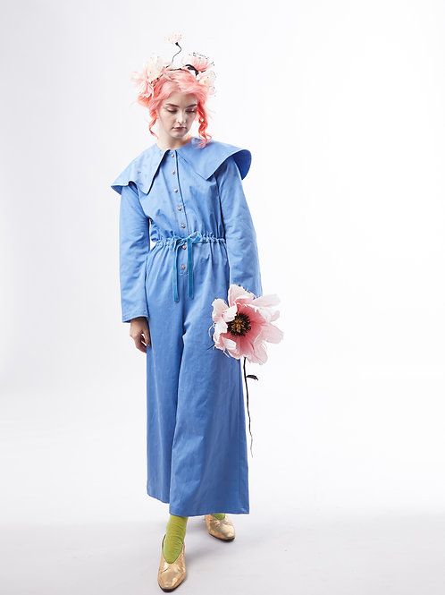 Bluebell bees Jumpsuit - Light Blue