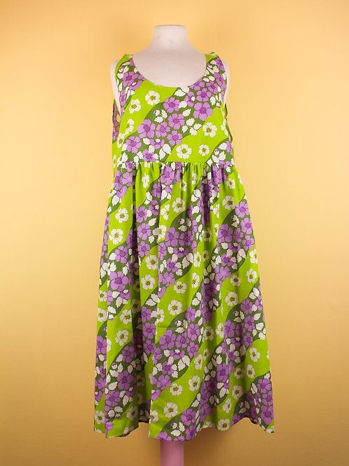 Spring flowers - POP ON PINAFORE xtra length - L/XL