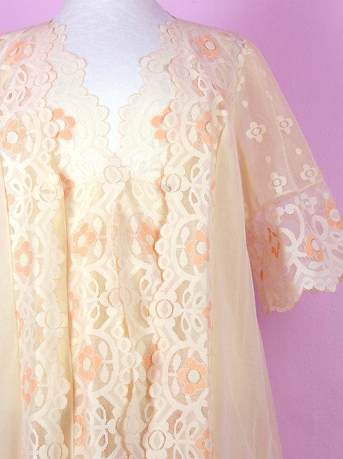 Peach lace dream - vintage dress set
