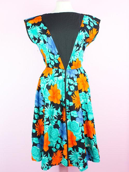 Tropical - Vintage Dress - S