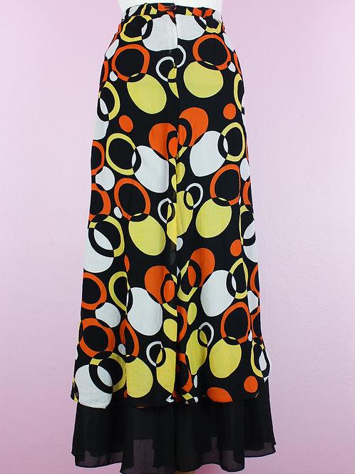 orange and lemon - vintage skirt