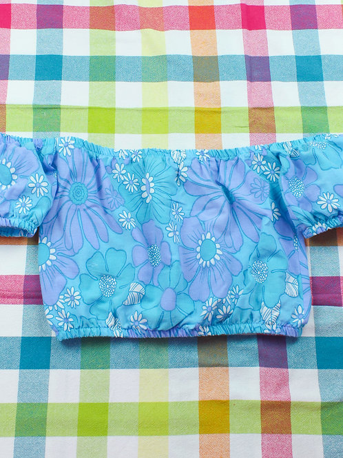 Ocean flowers - Cutoff Summer Top - 02